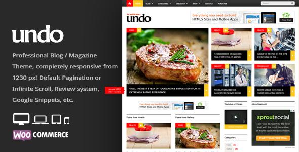 Undo - WordPress News / Magazine Theme - News / Editorial Blog / Magazine