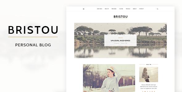 Bristou – WordPress Theme For Modern Bloggers