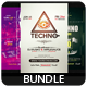 Techno - Flyers Bundle [Vol.02] - GraphicRiver Item for Sale