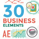 30 Business Infographic Elements - VideoHive Item for Sale