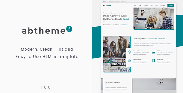 abtheme2 – Multipurpose Modern, Clean and Easy to Customize HTML5 Template