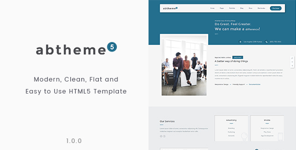 abtheme5 – Multipurpose Modern, Clean and Customizable HTML5 Template