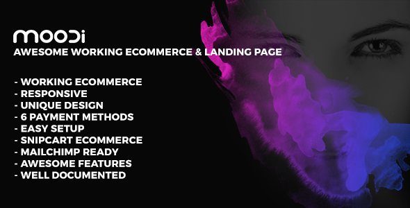 MOODI – Working Ecommerce & Multipurpose Landing Page