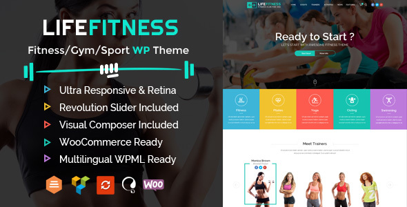 Life Fitness – Gym&Sport WordPress Theme