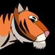 Big Cartoon Tiger Walks - VideoHive Item for Sale