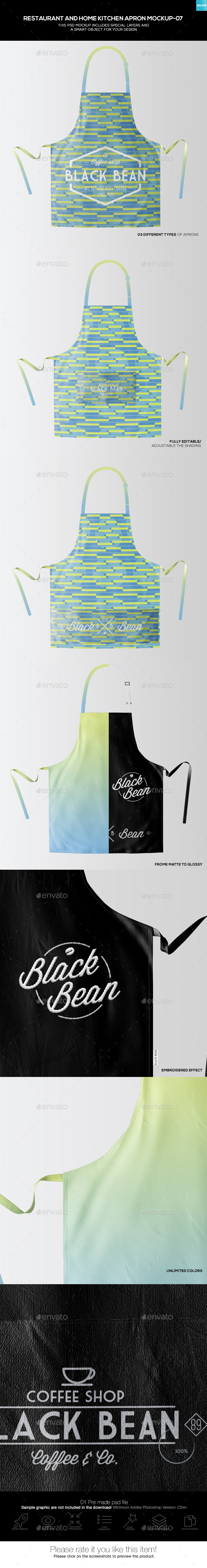 Restaurant and Home Kietchen Apron Mockup-07 - Miscellaneous Apparel
