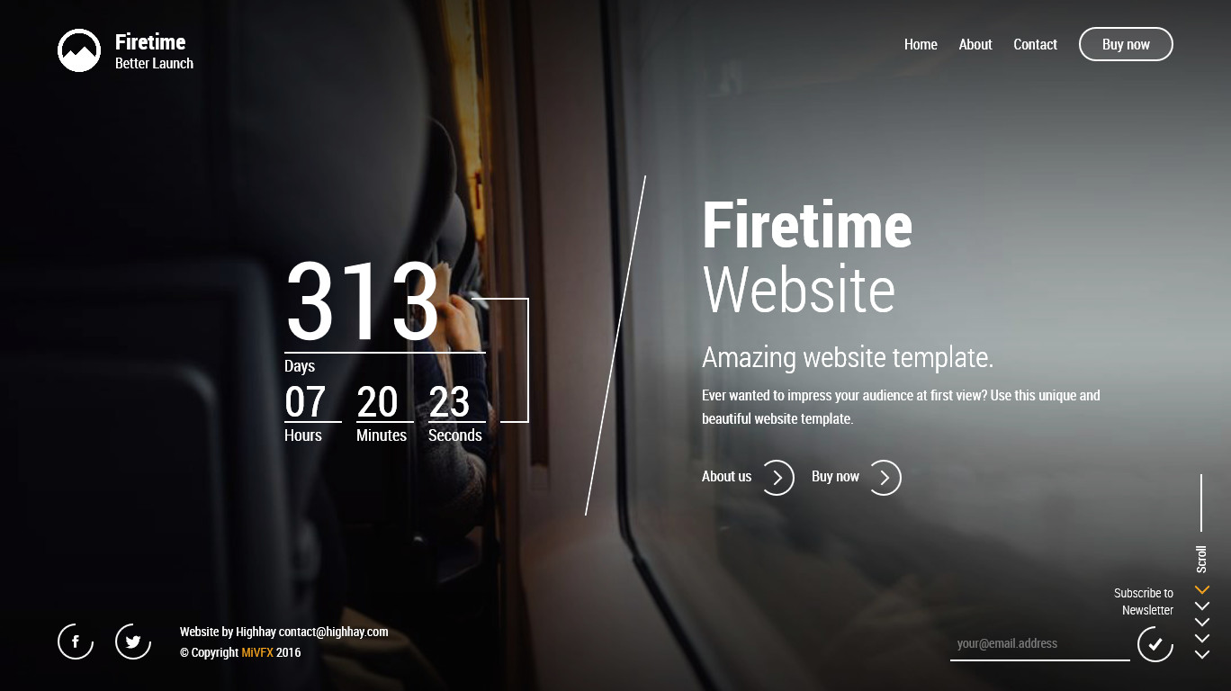 Firetime A Freshly New Creative Template For Coming Soon Page By Mivfx - Where to buy website templates