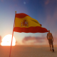 Spain Flag and Walking Man