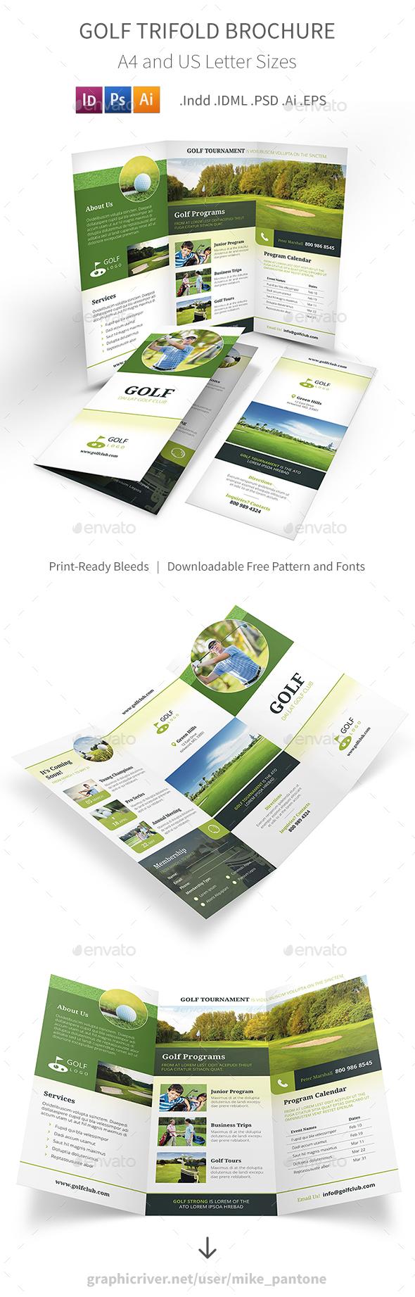 Golf Trifold Brochure 5 - Informational Brochures