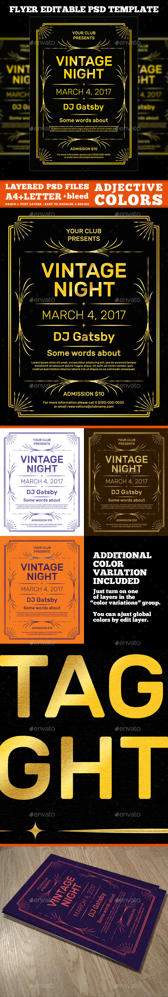 Vintage Flyer Template - Events Flyers