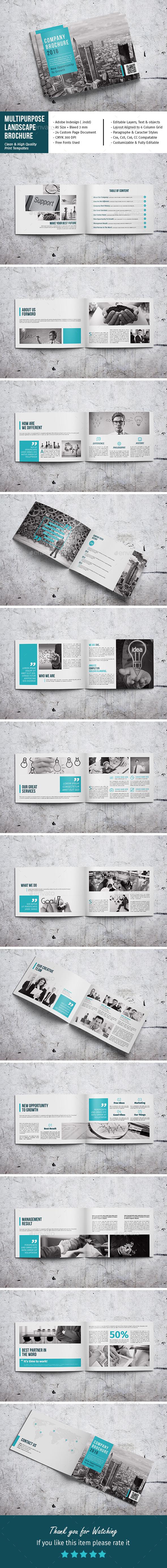 Multipurpose Landscape Brochure - Corporate Brochures