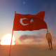 Turkey Flag and Walking Man