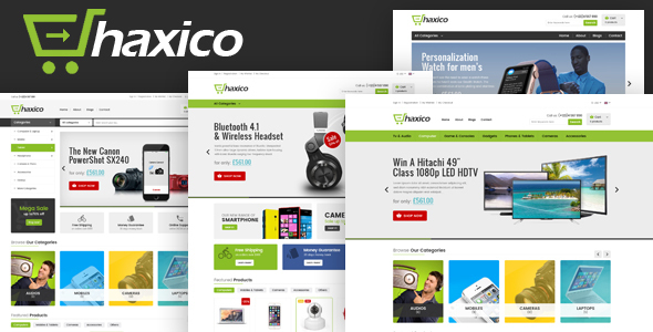 Haxico - Technology eCommerce Template - Shopping Retail