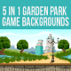 5 in 1 Park Backgrounds - GraphicRiver Item for Sale
