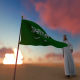 Saudi Arabia Flag and Walking Man - VideoHive Item for Sale