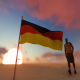 Germany Flag and Walking Man
