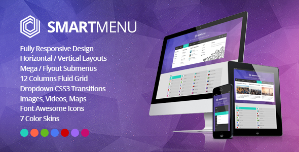 SmartMenu - Responsive jQuery Mega Menu - CodeCanyon Item for Sale