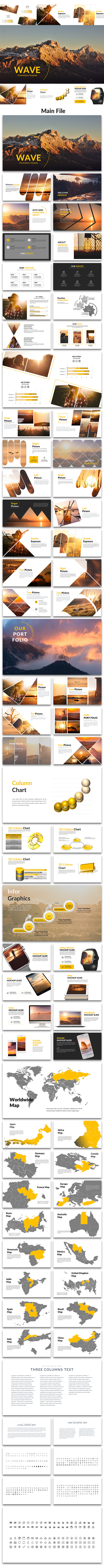 Wave - Creative PowerPoint Template - Creative PowerPoint Templates