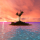 Sunset Island and Palm - VideoHive Item for Sale