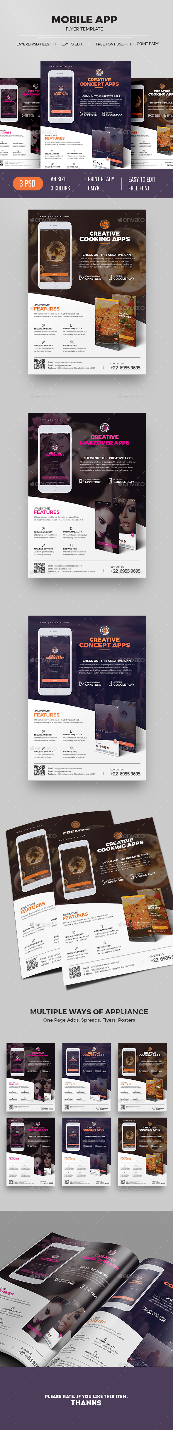 Mobile App Flyer - Commerce Flyers