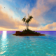 Sunset Palm Island - VideoHive Item for Sale