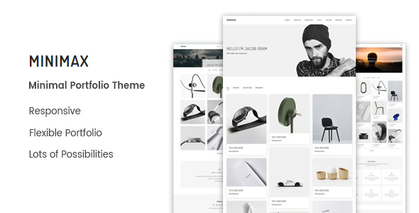 Image of Minimax - Minimal Portfolio WordPress Theme