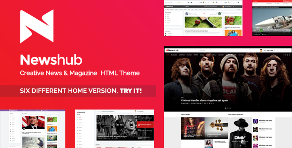 Newshub – Bootstrap News / Magazine Template