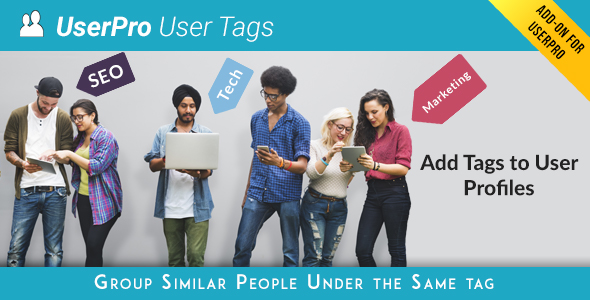 Tags add-on for UserPro - CodeCanyon Item for Sale