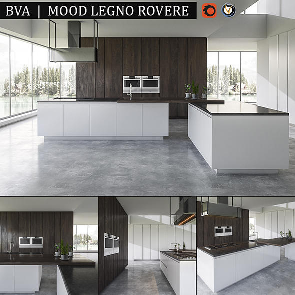 Kitchen BVA Mood Legno Rovere - 3DOcean Item for Sale