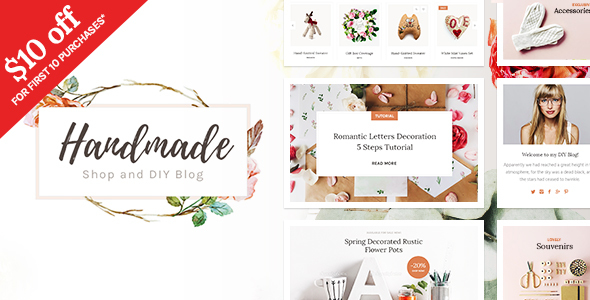 Handmade Shop – Handicraft Blog & Creative Shop WordPress Theme