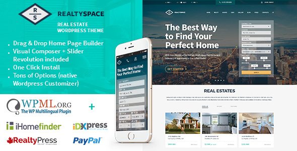 Image of Realtyspace - Real estate WordPress Theme