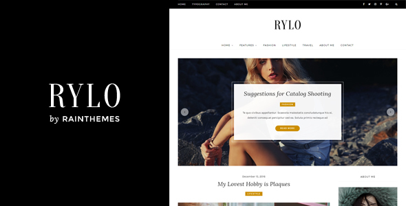 Rylo - Fashion WordPress Blog Theme