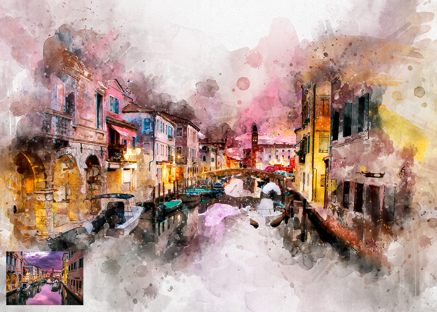 Perfectum 2 - Watercolor Artist Photoshop Action by profactions ...