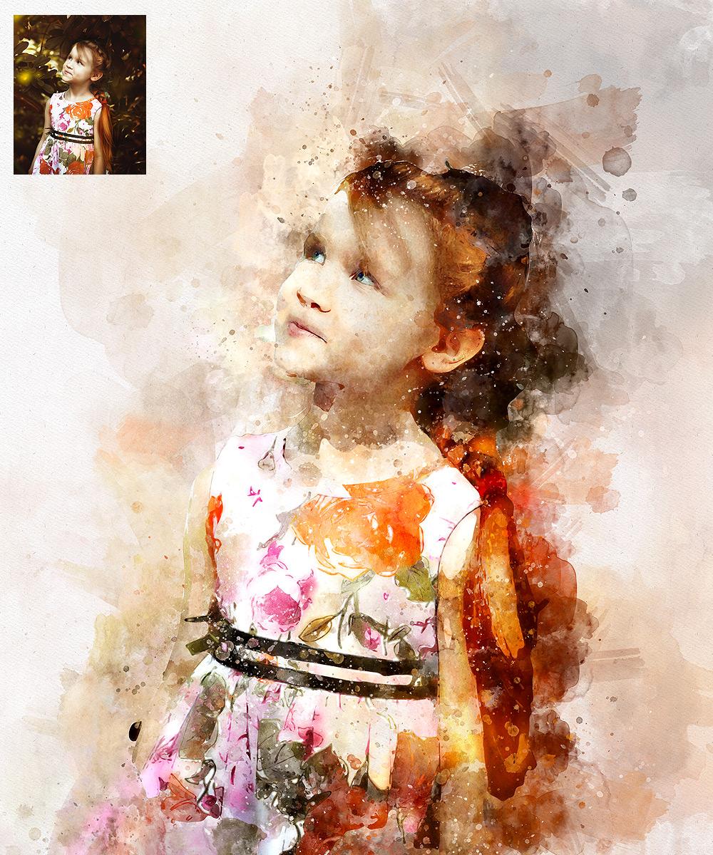 Watercolor - Perfectum 2 - Photoshop Action