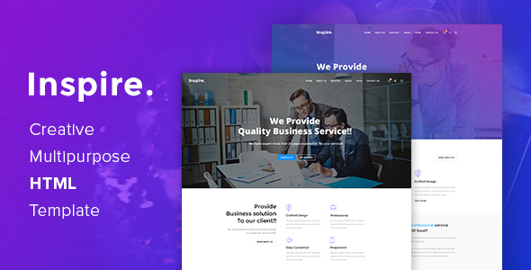 Inspire. – Creative Multipurpose HTML template