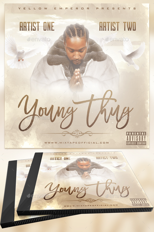 Young Thug Album Cover - PSD Templates - CD & DVD Artwork Print Templates