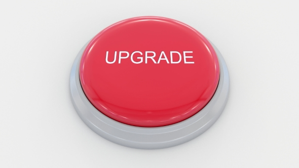Pushing Big Red Button With Upgrade Inscription By Moovstock