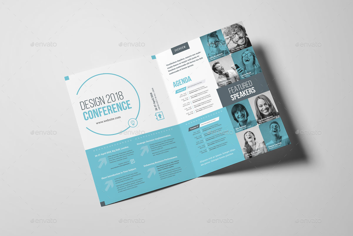 Conference Bifold Brochure By Snowboy Graphicriver