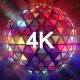Disco Ball Triangles Rays 4K