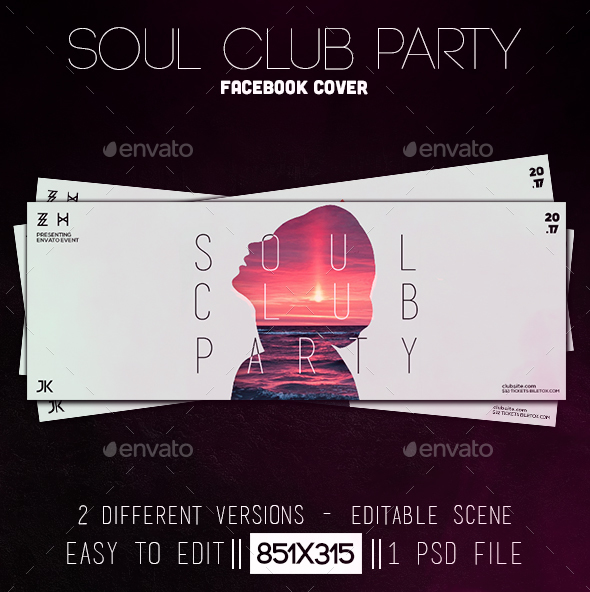Soul Club Party Facebook Cover - Facebook Timeline Covers Social Media