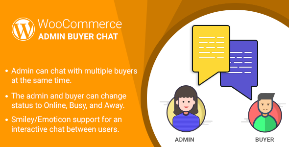 WordPress WooCommerce Admin Buyer Chat Plugin - CodeCanyon Item for Sale