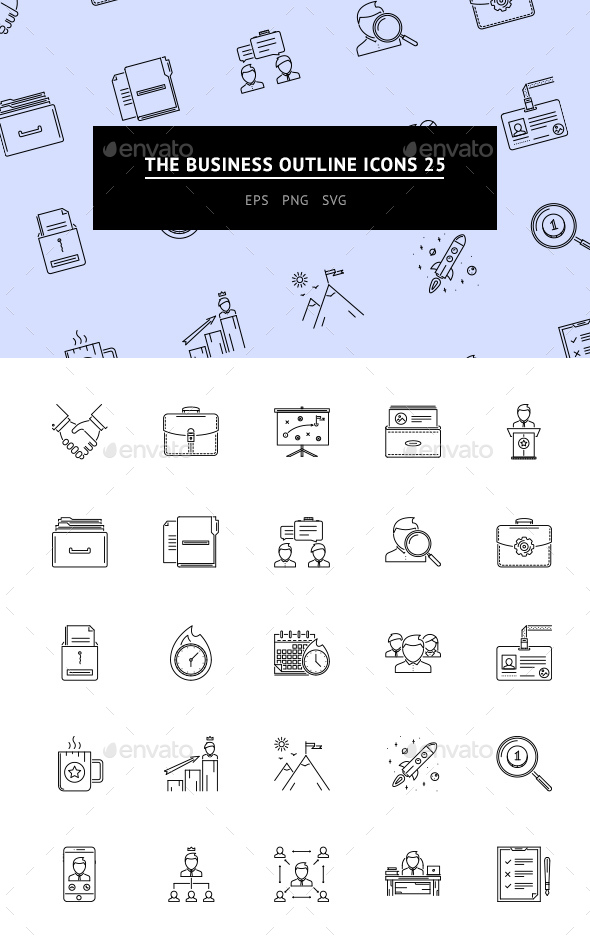 The Business Outline Icons 25 - Web Icons