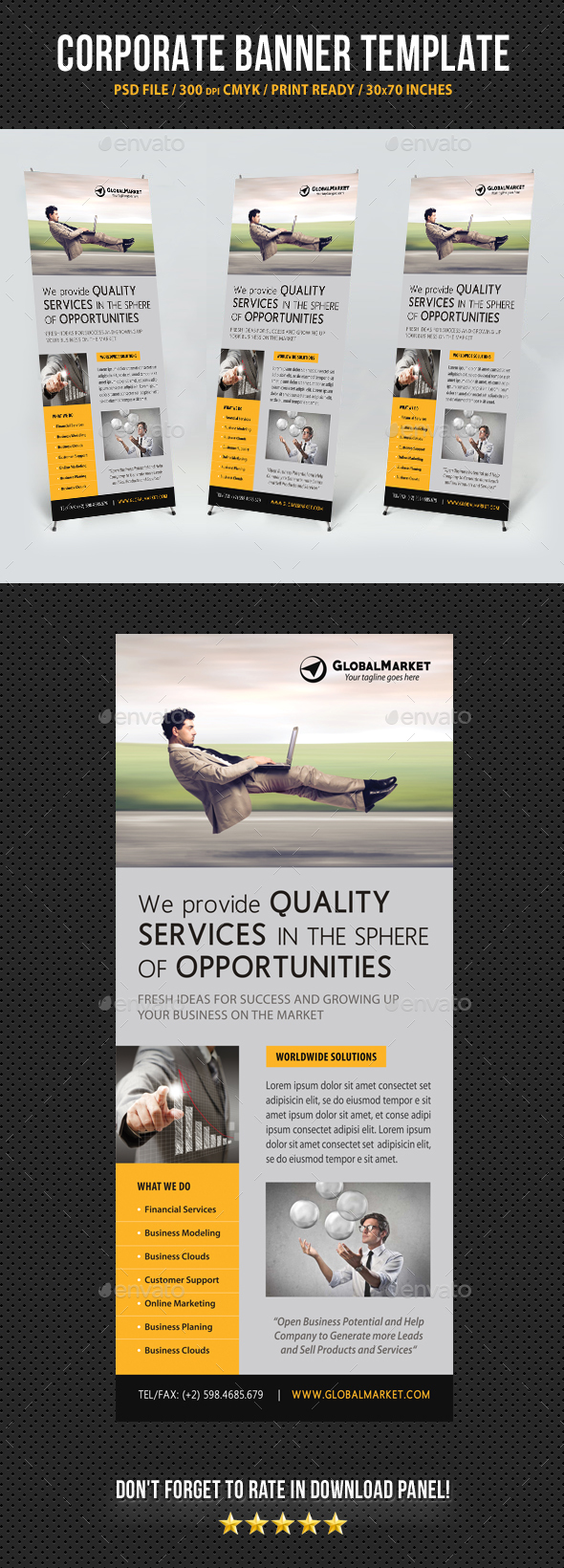 Corporate Business Banner Template V7 - Signage Print Templates