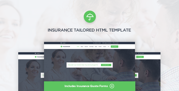 Insuranced – Insurance HTML Template