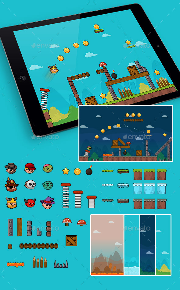 Physics Game Set - Game Kits Game Assets