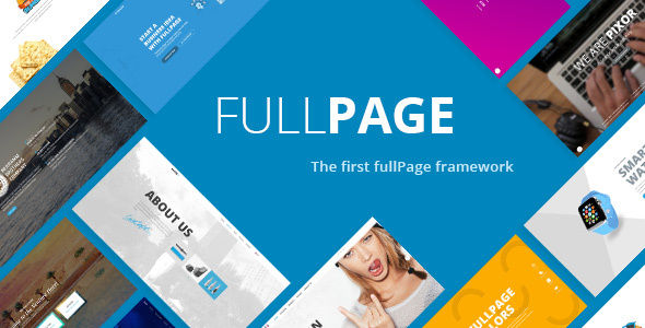 FullPage –  Fullscreen Multi Concept HTML5 Template