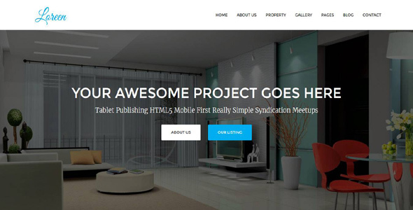 Loreen - Real Estate HTML Template - Business Corporate