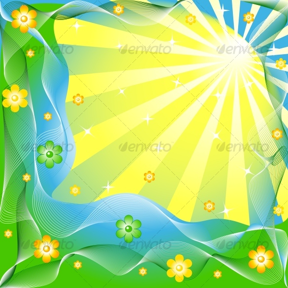 Abstract  sunny background - Backgrounds Decorative