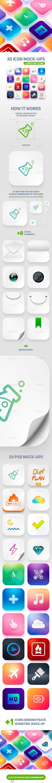 Icon App Maker - 20 PSD Mock-Ups - Logo Product Mock-Ups