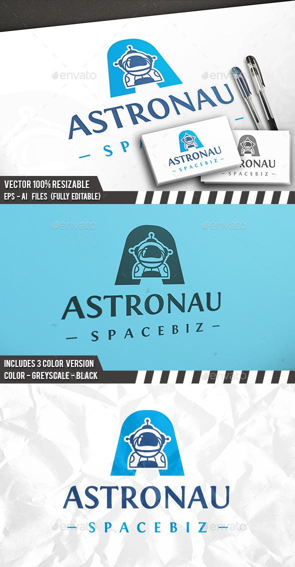 Astronaut A Letter Logo - Letters Logo Templates